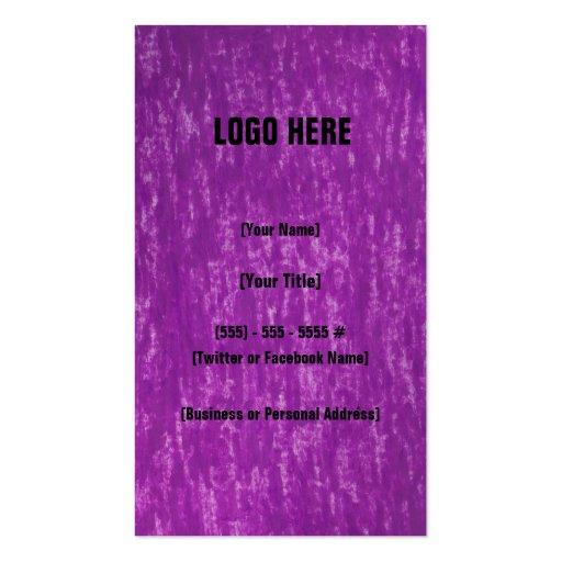 Puramente tarjeta de visita de la púrpura