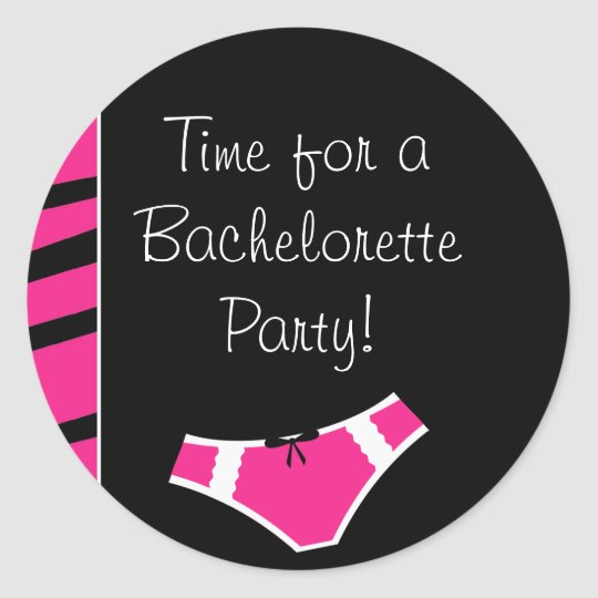 purbeng1 copy, pink_panties, Time for a Bachelo... Classic Round Sticker