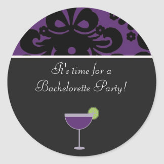 purblack copy, margarita, It's time for a Bach...s Classic Round Sticker