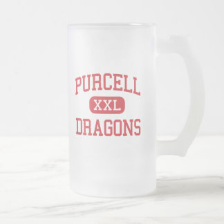 Purcell - dragones - joven - Purcell Oklahoma Taza Cristal Mate