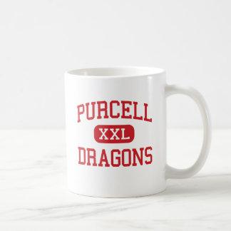 Purcell - dragones - joven - Purcell Oklahoma Taza Básica Blanca