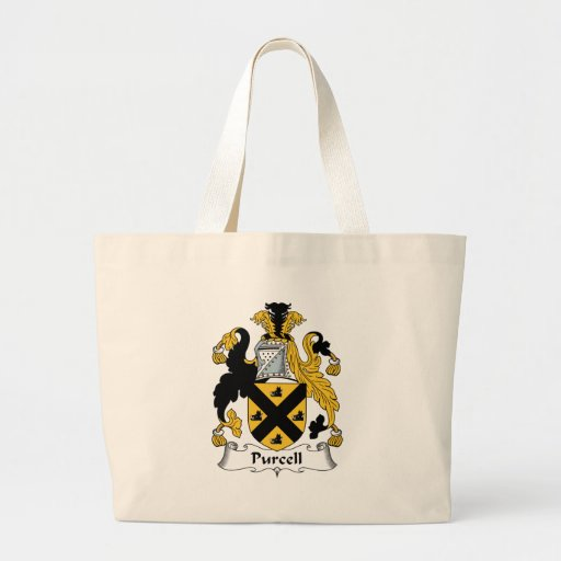 Purcell Family Crest Canvas Bag