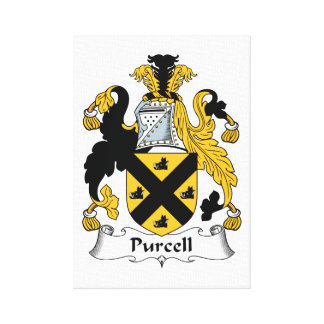 Purcell Family Crest Canvas Prints