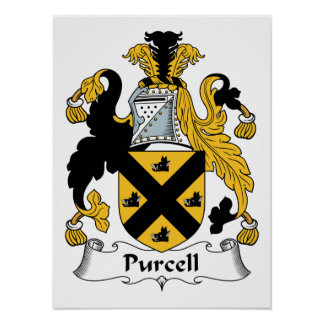 Purcell Family Crest Poster