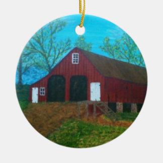 Purcellville Barn Ceramic Ornament