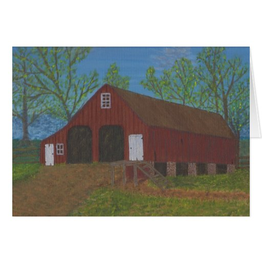 Purcellville Barn Greeting Card