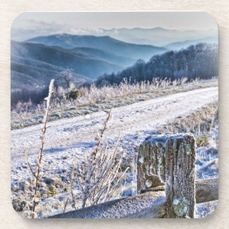 Purchase Knob Winter Scenic View Beverage Coaster