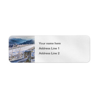 Purchase Knob Winter Scenic View Label