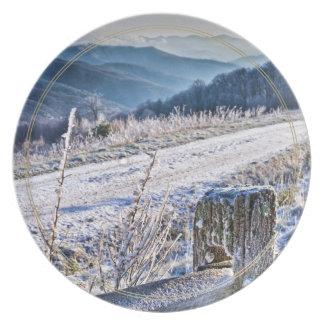 Purchase Knob Winter Scenic View Melamine Plate