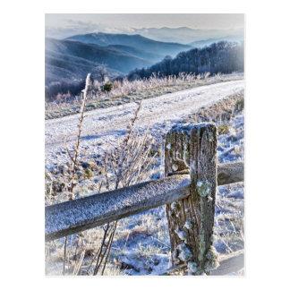 Purchase Knob Winter Scenic View Postcard