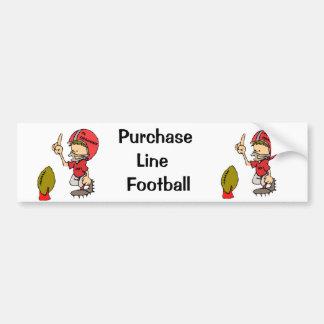 Purchase Line Football Bumper Sticker