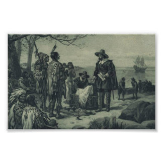Purchase of Manhattan Island by Peter Minuit, 1626 Poster