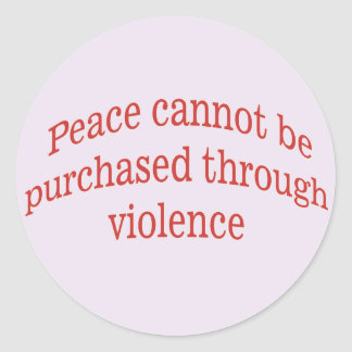 Purchase Peace Classic Round Sticker