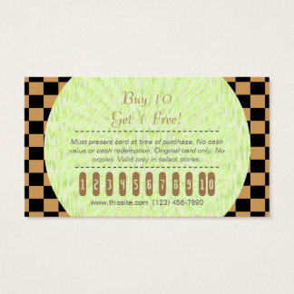 Purchase Punch Card/ U-pick Color Black Checkered Business Card
