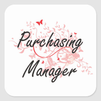Purchasing Manager Artistic Job Design with Butter Square Sticker