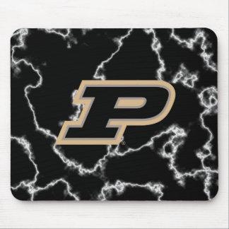 Purdue University | Black Marble Design Mouse Pad