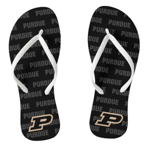 Purdue University   Primary Logo Watermark Flip Flops