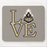 "Purdue University | Purdue Love Mouse Pad<br><div class=""desc"">Check out these new Purdue University designs! Show off your Purdue Boilermaker pride with these new Purdue University products. These make perfect gifts for the Boilermakers student, alumni, family, friend or fan in your life. All of these Zazzle products are customizable with your name, class year, or club. Go Boilermakers!...</div>"