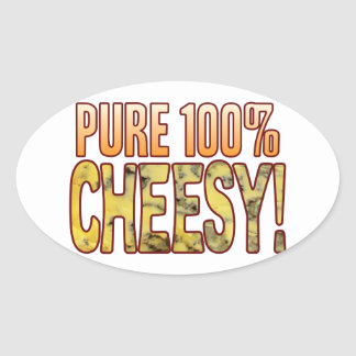 Pure 100 Blue Cheesy Oval Sticker