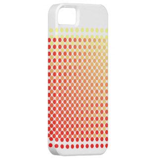 Puré amarillo rojo encima del caso del iPhone del Funda Para iPhone SE/5/5s