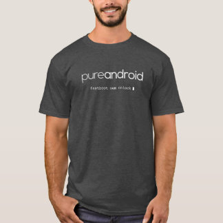 Pure Android Fastboot OEM Unlock Grey T-Shirt