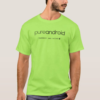 Pure Android Fastboot OEM Unlock Lime T-Shirt