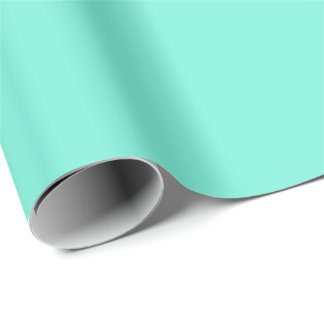 Pure Aqua Blue color Wrapping Paper
