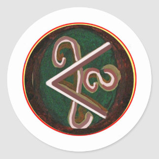 Pure Artistic - REIKI Karuna Symbol Round Stickers