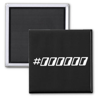 Pure Black Hex Color Code Magnets