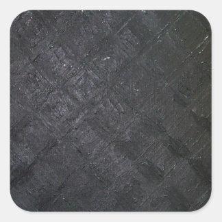 Pure Black Wet Diamond Pattern (pattern painting) Square Sticker