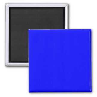Pure Blue Customizable Template Blank 2 Inch Square Magnet