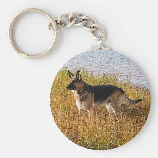 Pure Bred German Shepherd Photo on Key Chain