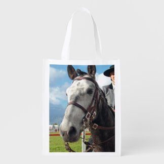 Pure breed horse reusable grocery bag