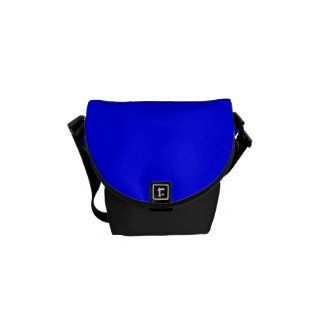 Pure Bright Blue Color Trend Blank Template Messenger Bag