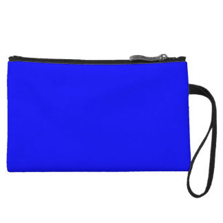 Pure Bright Blue Color Trend Blank Template Wristlet Clutch