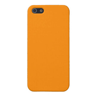 Pure Bright Orange Customized Template Blank Cover For iPhone 5