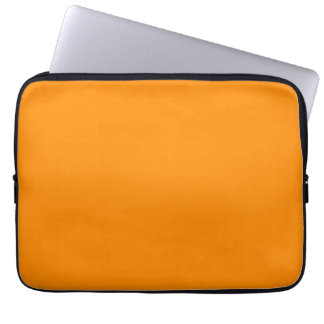 Pure Bright Orange Customized Template Blank Computer Sleeve