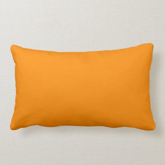 Pure Bright Orange Customized Template Blank Lumbar Pillow