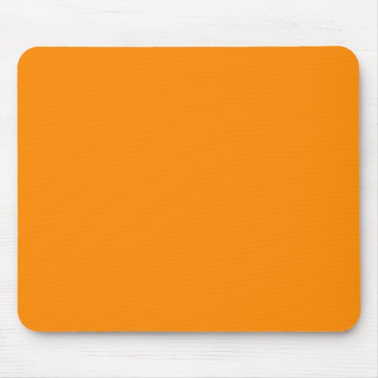 Pure Bright Orange Customized Template Blank Mouse Pad
