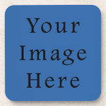 Pure Cerulean Blue Color Trend Blank Template Coasters