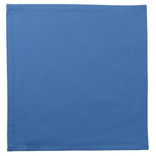 Pure Cerulean Blue Solid Trend Color Background Cloth Napkins