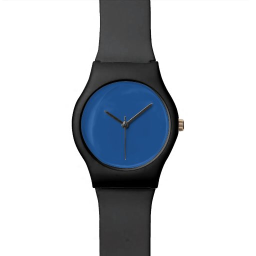 Pure Cerulean Blue Solid Trend Color Background Watches