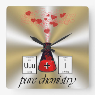 Pure Chemistry Square Wall Clock