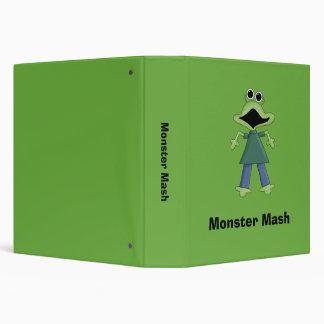 "Puré del monstruo · Monstruo verde del Froggy Carpeta 1 1/2"""