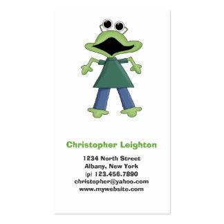 Puré del monstruo · Monstruo verde del Froggy Tarjetas De Visita