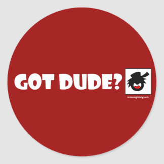 PURE DUDE-1 Magnets, Stickers, Buttons Classic Round Sticker