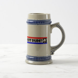 PURE DUDE-1 Mugs, Cups, Mousepads Beer Stein