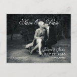 Pure Elegance Photo Black and White Save the Date Announcement Postcard