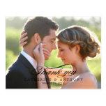 Pure Elegance Wedding Thank You Card - Black Postcards