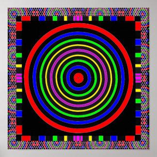 Pure Energy Circles : Meditation Chakra Poster